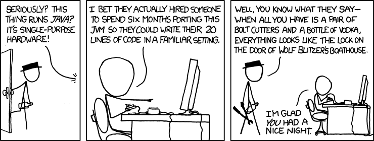 XKCD 801: Golden Hammer